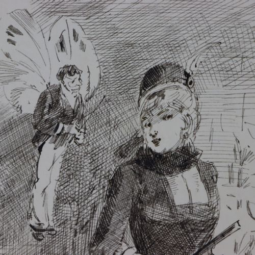 Henry SOMM (1844 1907).  La bonne conscience.  Encre sur papier.  Signée en bas …
