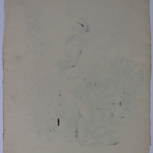 Henry SOMM (1844 1907).  Elégante au parapluie.  Encre sur papier.  Signée en ba…