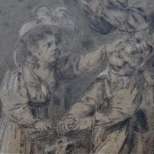 Louis Léopold BOILLY (1761 1845), attribué à.  Mére réprimant la dispute de ses …