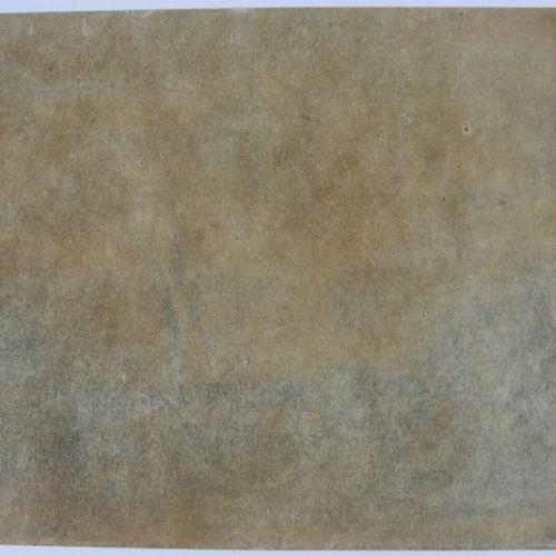 Camille FLERS (1802 1868)  Vue d'un port.  Crayon noir et rehauts de craie blanc…