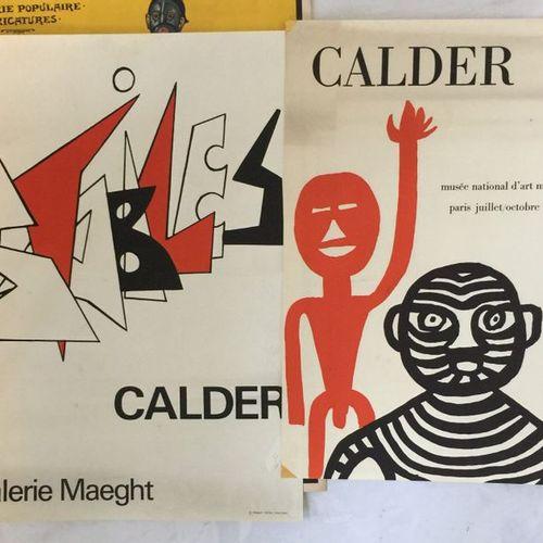 CALDER (D'APRÈS) Musée National d'Art Moderne 1965 et Galerie Maeght. Deux affic…