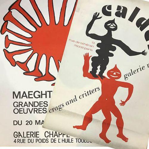 CALDER (D'APRÈS) «Galerie MAEGHT» (1976). Deux affiches sérigraphiques.
