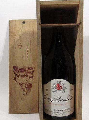 1 Magnum of GEVREY CHAMBERTIN G.Vachet Rousseau 1989. Original wooden case