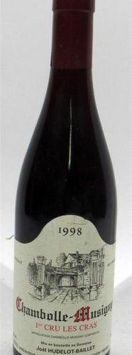 1 bottle of CHAMBOLLE MUSIGNY 1er Cru les Cras Domaine Joël Hudelot Baillet 1998…