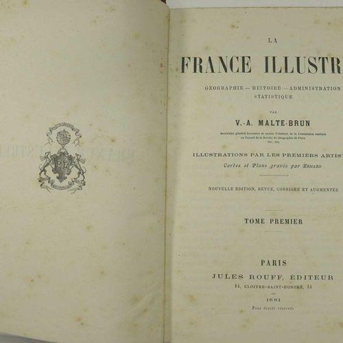 MALTE BRUN La France illustrée (géographie histoire administration statistique) …