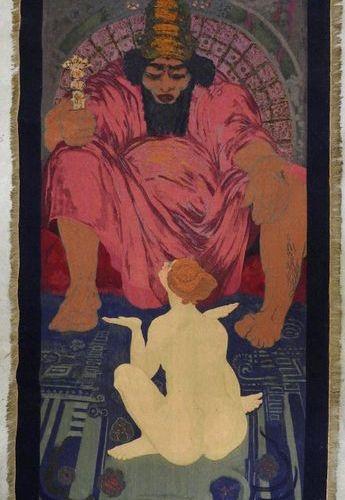 Sigismond Jean Ernest JEANÈS (1863 1952) :  Salomon et la Sulamite.  Tapisseri…