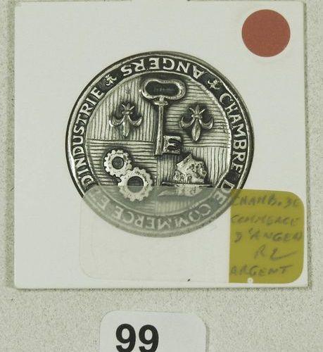 Single sided silver token Ch. De Commerce et d'Industrie Angers. Modernization o…