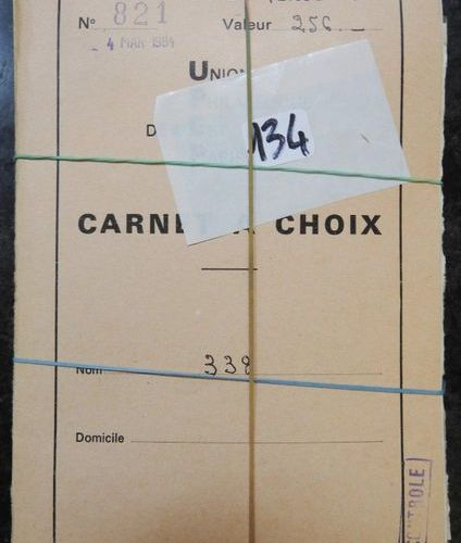 Countries of French speaking Africa comprising: 9 cancelled postage stamp circul…