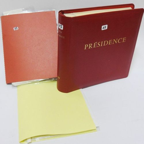 Red binder Presidency including: France, postage stamps mint and without charnel…
