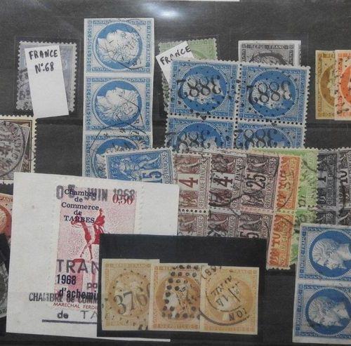 France période classique et semi moderne  2 plaquettes de timbres poste oblitéré…
