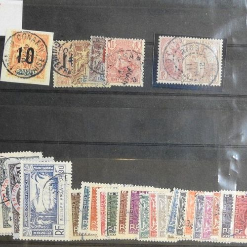 Benin and Guinea  Cover of two cancelled postage stamp plates period 1900 / 1930