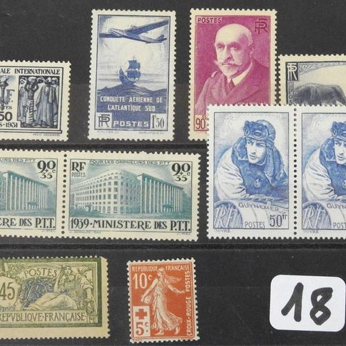 France  Booklet with ten postage stamps No. 274, 320, 377 A, 424 x2 , 457, 461 x…