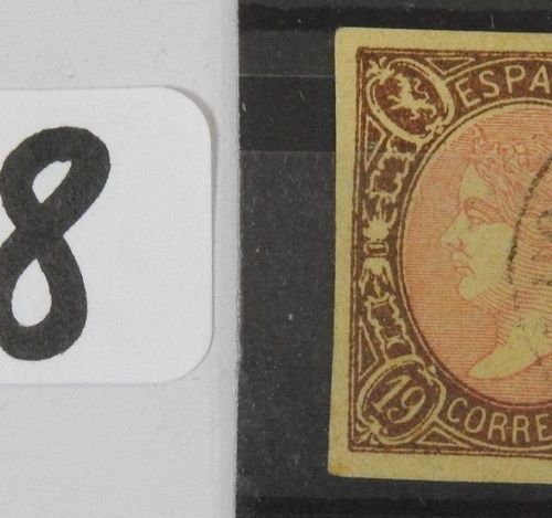 Spain  Postage stamp No. 68 cancelled