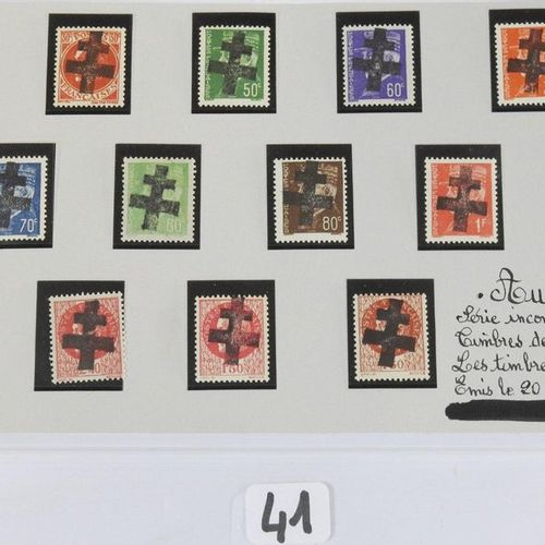 France  New postage stamps Liberation including : Thirteen postage stamps overch…