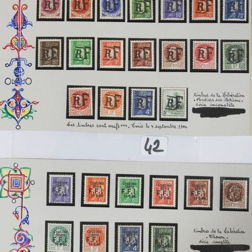 France New postage stamps Liberation including : Eighteen postage stamps overlo…