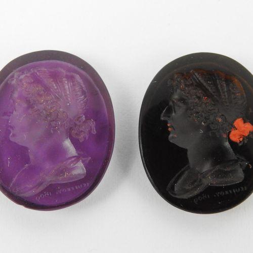 [Empire] Deux intailles figurant un même buste de femme de profil à g. (une pers…