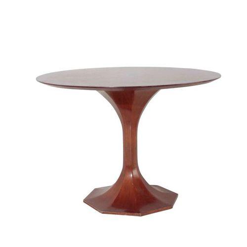 Tavolo con struttura e piano in legno., Prod. Italia, 1950 ca. Cm 109x76