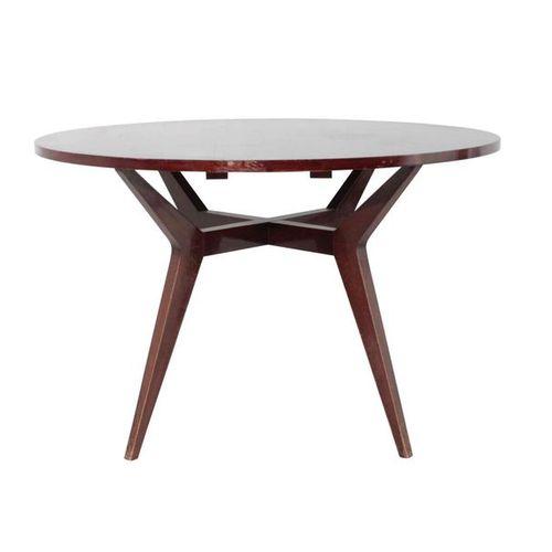 Tavolo con struttura in legno., Prod. Italia, 1950 ca. Cm 120x75