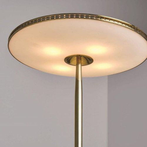 Max Ingrand, A rare table lamp with metal and brass structure, thick bevelled cr…