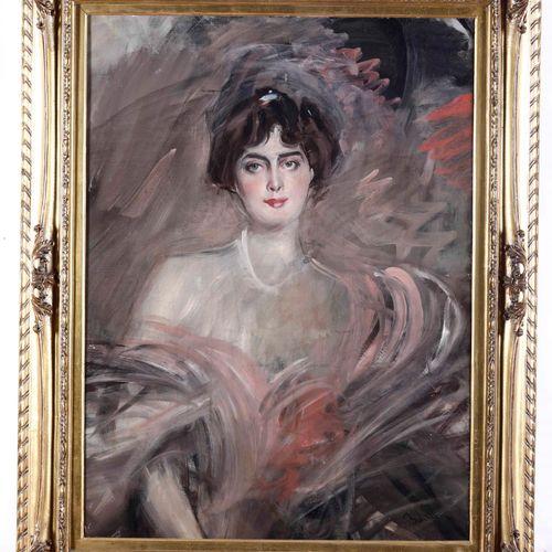 Giovanni Boldini (1842 1931), Ritratto di Mademoiselle Emilienne Le Roy, 1912 ci…