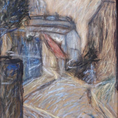 Giuseppe Cominetti (1882 1930), attribuito a, Montmartre pastel on cardboard cm …