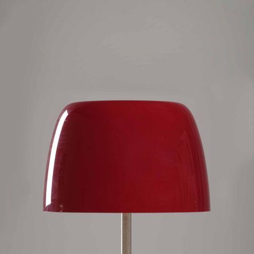 Lampada da tavolo con struttura in metallo e diffusore in vetro., Prod. Italy, 1…