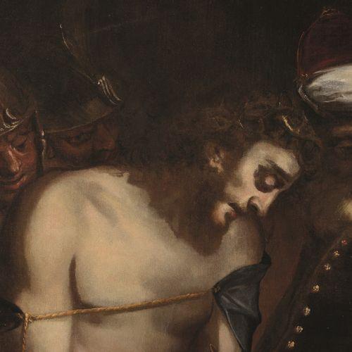 Luca Cambiaso (Moneglia 1527 Madrid El Escorial 1585), Ecce Homo huile sur toile…
