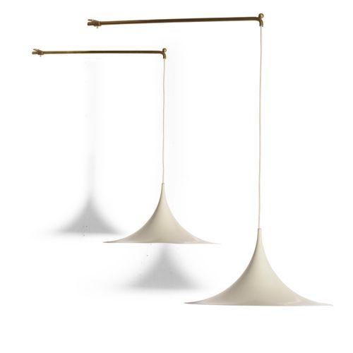 Claus Bonderup e Torsten Thorup , Coppia di lampade a soffitto mod. Gubi con str…