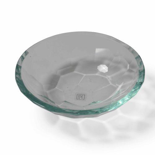 Fonatana Arte, Svuotatasche in cristallo molato e curvato. Etichetta originale. …