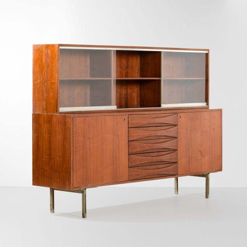 Arne Vodder, Unité de stockage avec structure en bois et supports métalliques. V…