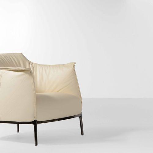 Jean Marie Massaud, Poltrona mod. Archibald con struttura in metallo e rivestime…