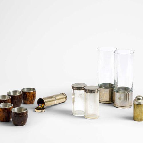 Gabriella Crespi, Set di oggetti da tavolo comprendenti una coppia di bicchieri …