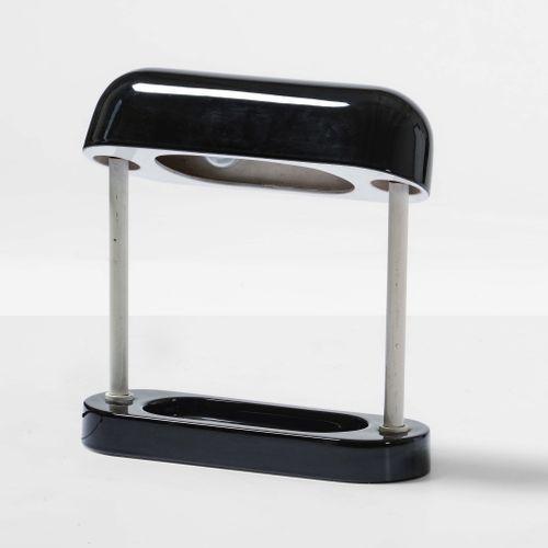 Lampada da tavolo con struttura in metallo e ceramica smaltata., Prod. Italia, 1…