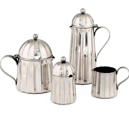 Massimo Vignelli, Serivizio da caffè in argento composto da quattro elementi. Ma…