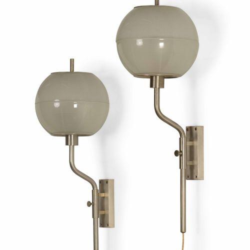 Stilnovo, Coppia di lampade da parete con struttura orientabile e regolabile in …