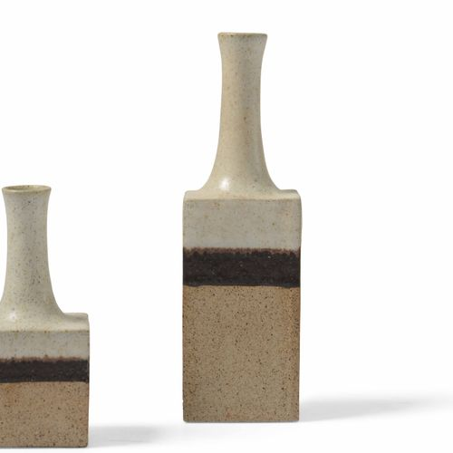 Bruno Gambone, Due vasi in ceramica. Firma originale. Prod. Italia, 1980 ca. Cm …