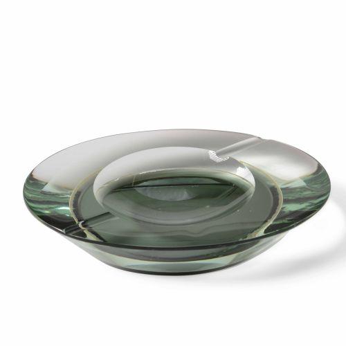 Fontana Arte, Cendrier en terre et verre coloré. Fabriqué en Italie, vers 1960. …