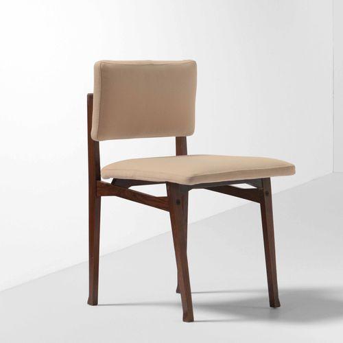 Franco Albini, Sedia mod. Luisella con struttura e sostegni in legno , rivestime…