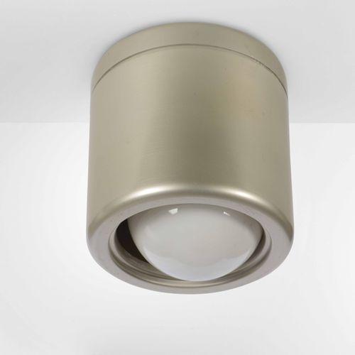 Gino Sarfatti, Lampada a soffitto con struttura in metallo laccato. Prod. Artelu…