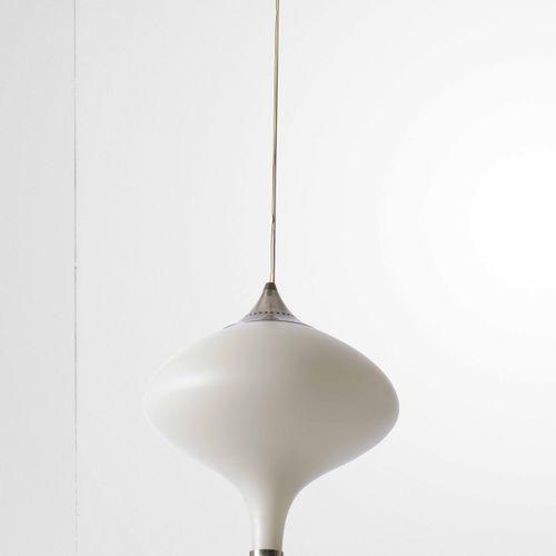 Lampade a sospensione, altezza regolabile, diffusore in vetro opalino, particola…