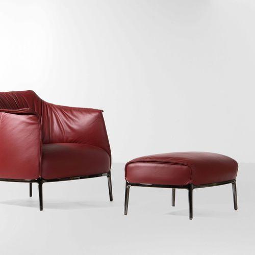 Jean Marie Massaud, Ensemble composé d'un fauteuil et d'un ottoman mod. Archibal…