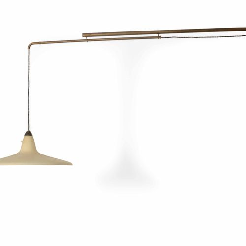 Stilnovo, Lampada a parete estensibile e orientabile con struttura in ottone e d…