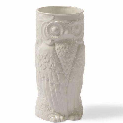 Portaombrelli a forma di Gufo in ceramica smaltata., Prod. Italia, 1970 ca. Cm 2…