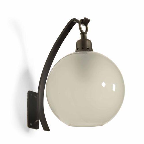 Luigi Caccia Dominioni, Coppia di lampade da parete con struttura in metallo e d…