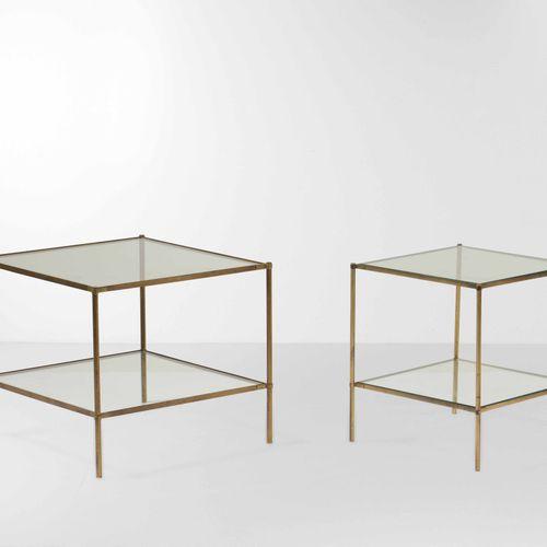 Corrado Corradi dell'Acqua, Deux tables d'appoint mod. T12 Montecarlo avec struc…