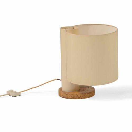 Lampada da tavolo con struttura in metallo e base in sughero., Prod. Italie, 196…