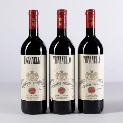 Antinori, Tignanello, (3 Bts) 1987 3 Bts BN