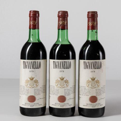 Antinori, Tignanello, (3 Bts) 1978 2 Bts TS 1 Bt BN
