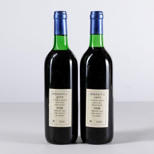 Tenuta San Guido, Sassicaia Riserva, (2 Bts) 1975 1 Bt BN 1 Bt TS