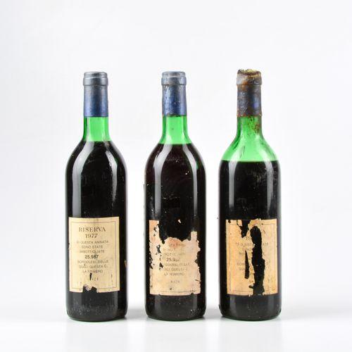 Tenuta San Guido, Sassicaia Riserva, (3 Bts) 1977 2 Bts TS 1 Bt MS